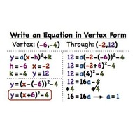 Lesson 3-15 Writing Quadratic Equations in Vertex Form