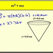 Calculating the Surface Area of Cones