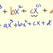The Terms of a Cubic Function