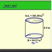 Finding Unknown Cylinder Measurements Using Surface Area
