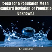 Putting it all together:  t-test for a Population Mean (σ unknown)