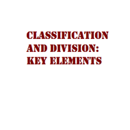 Classification Papers: Key Elements
