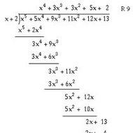 A2.5.2 Dividing Polynomials