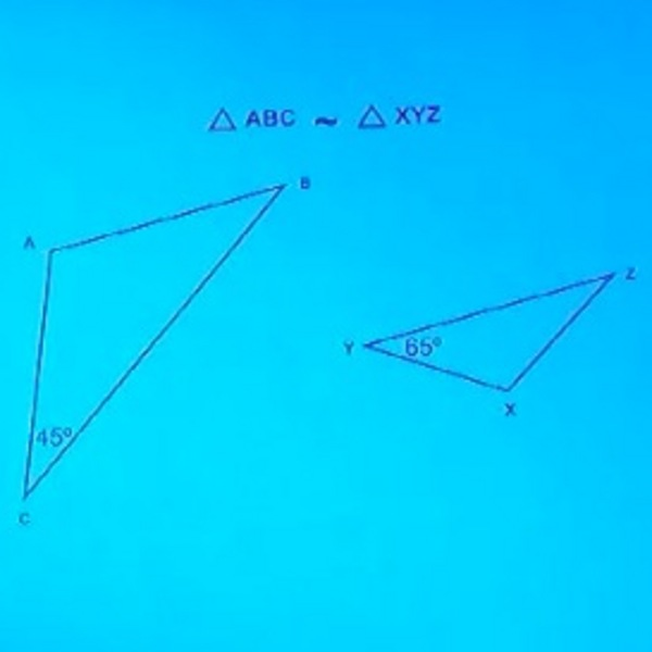 Solving for Unknown Angles of Similar Triangles