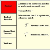 Terms Associated with Square Root Functions