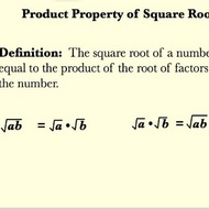The Product Property of Square Roots
