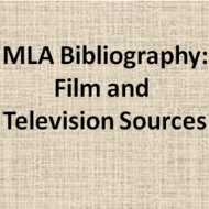 MLA Bibliography: Film or Television Sources