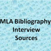 MLA Bibliography: Interview Sources