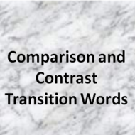 transition words for contrast