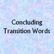 Concluding Transition Words