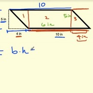 Area of a Parallelogram with Triangles and Rectangles
