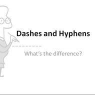 Dashes and Hyphens