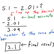 Subtracting w/ Significant Figures