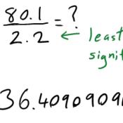 Dividing w/ Significant Figures
