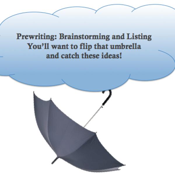 Prewriting: Brainstorming