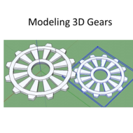 Modeling 3D Gears in SketchUp Make