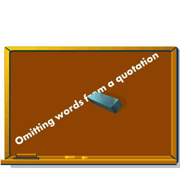 Omitting Words from Quotations