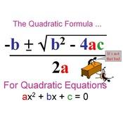 Lesson 4-7 The Quadratic Formula Complex Solutions