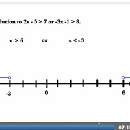"Graphing an ""Or"" Compound Inequality Solution Set"