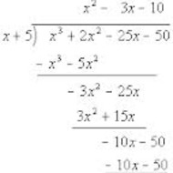 Lesson 4-13 Dividing Polynomials using Long Division (Mon. Night 2/17)