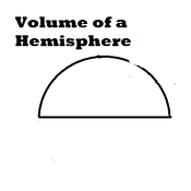 Volume of a Hemisphere
