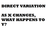 Introducing Direct Variation