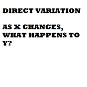 Direct Variation Equations
