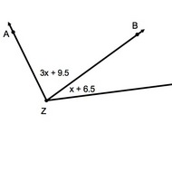 Finding Unknown Angles from Adjacent Angles