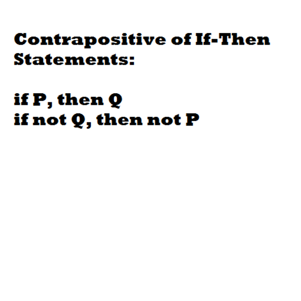 Contrapositive of an If-Then Statement