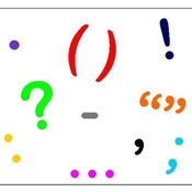 #4 - A bunch of punctuation marks review:  Grandma's Noodles