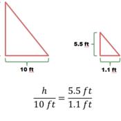 Using Similar Triangles to Make Indirect Measurements
