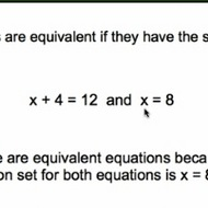 Equivalent Equations