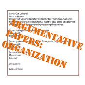 Argumentative Papers: Organization