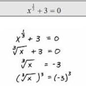 Lesson 5-9 Solve Radicals (Tues. night 3/25)