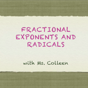 Fractional Exponents and Radicals