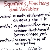 Equations, Functions, and Variables