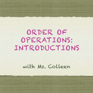 Order of Operations: Introduction