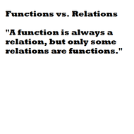 Functions and Relations
