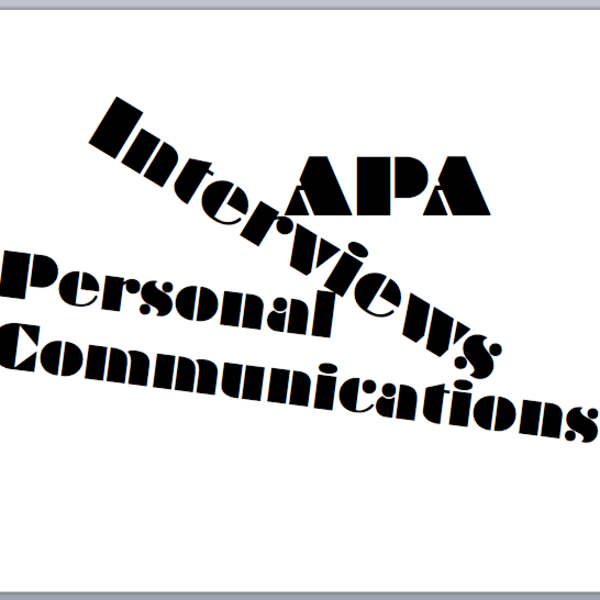 APA Bibliography: Interview Sources