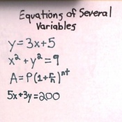 Equations of Several Variables