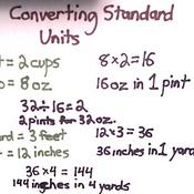 Converting Standard Units
