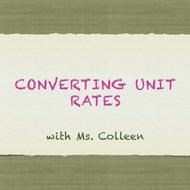 Converting Units Rates