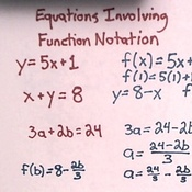 Equations Involving Function Notation