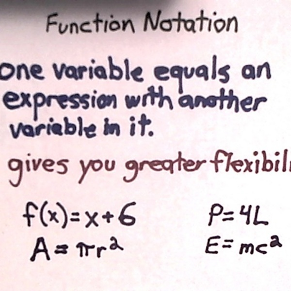 Applications of Function Notation