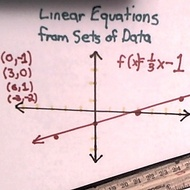 Linear Equations from Sets of Data