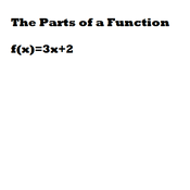 The Parts of a Function