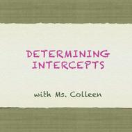 Determining Intercepts
