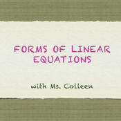 Forms of Linear Equations