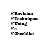 Revision Techniques: Using a Checklist