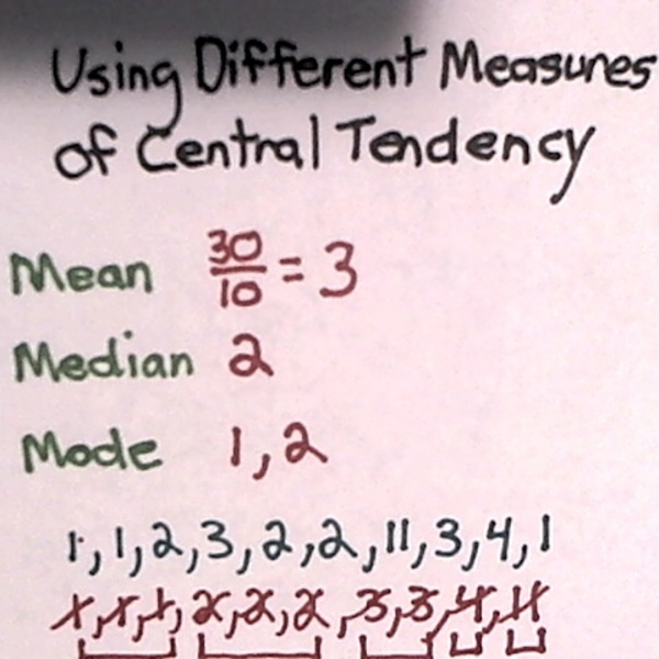 Using Different Measures of Central Tendency